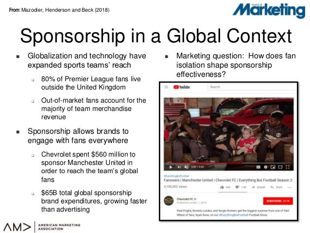 From:From:  Globalization and technology have expanded sports teams' reach  80% of Premier League fans live outside the ...