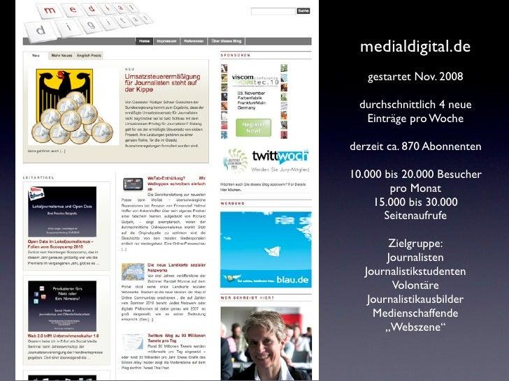 Journalismus 2.0 - Seminar am MAZ 18.01.11 Slide 2