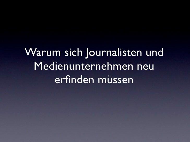 Journalismus 2.0 - Seminar am MAZ 18.01.11 Slide 3