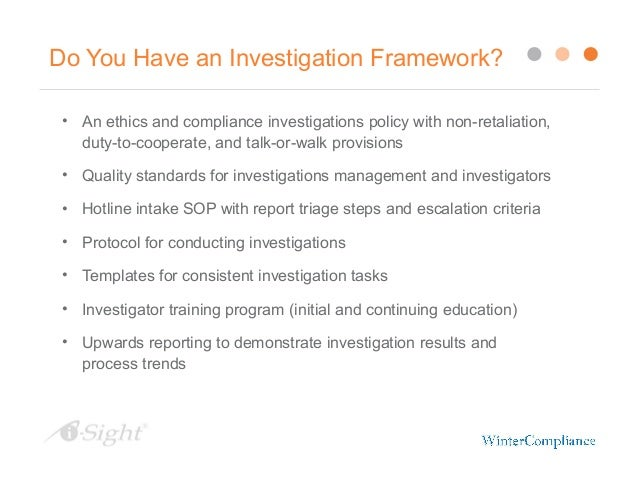 Documenting your workplace investigation protect your - Ethics and compliance officer association ...