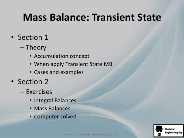MB0 Mass Balance Course Content