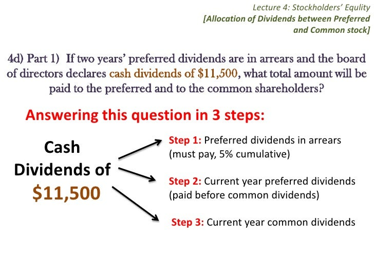 how to find cumulative dividends