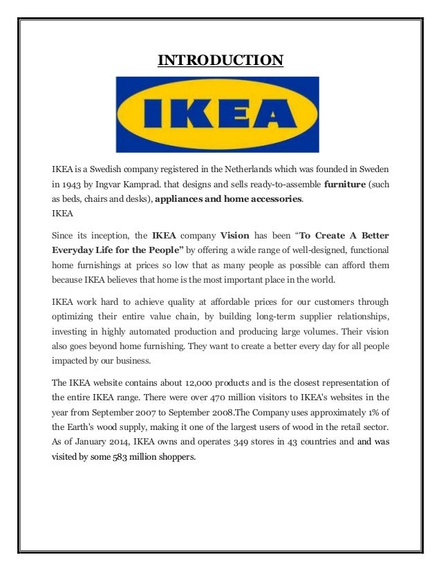 International operation management ikea