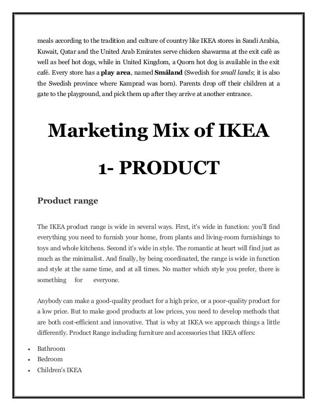 ikea marketing mix 7 ps