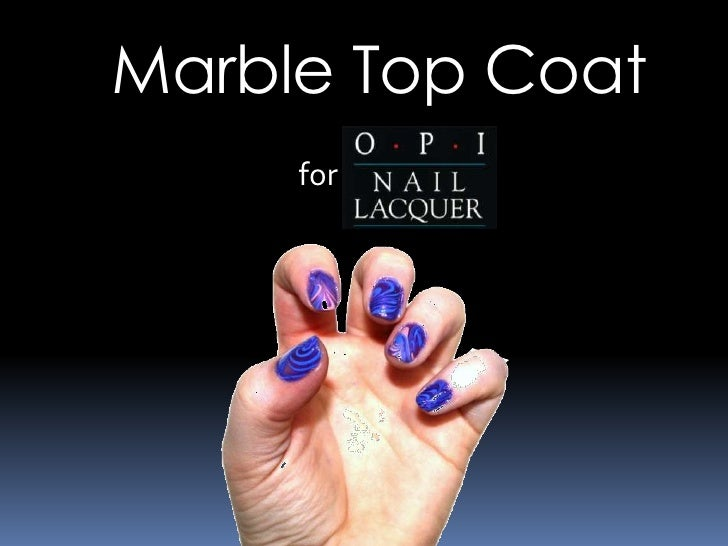Marble Top Coat     for