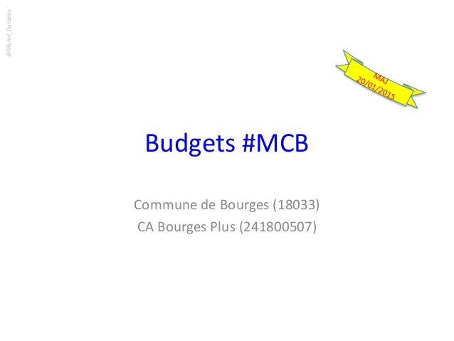 Budgets #MCB Commune de Bourges (18033) CA Bourges Plus (241800507) @Michel_Barbeau