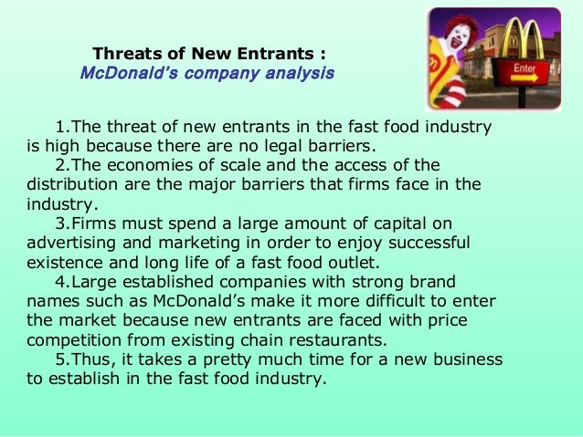 Porter 5 force of fast food industry in india