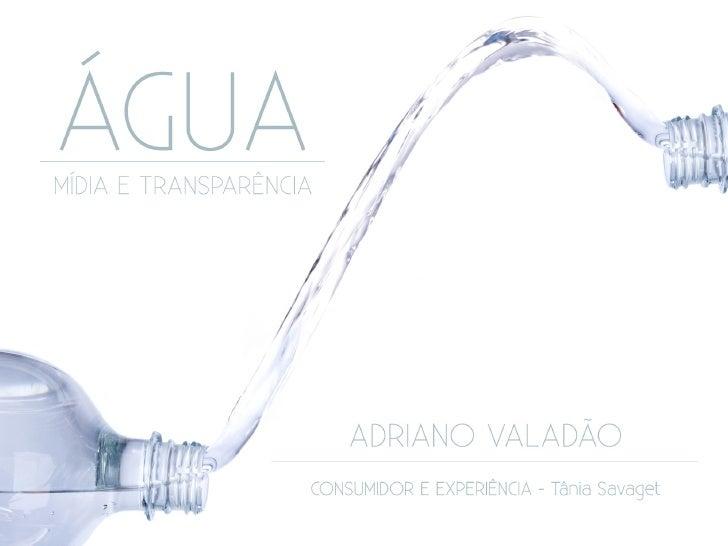 Água - Mídia e Transparência