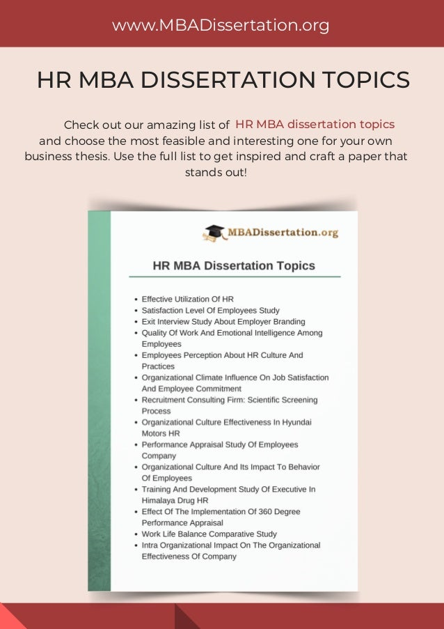 Dissertation business questions