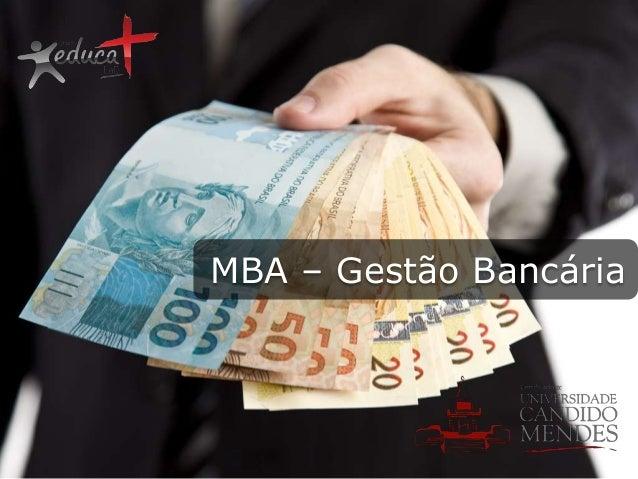MBA – Gestão Bancária