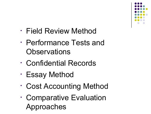 essay evaluation method