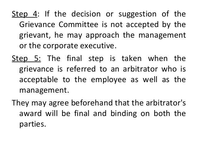 grievance procedure in hrm pdf