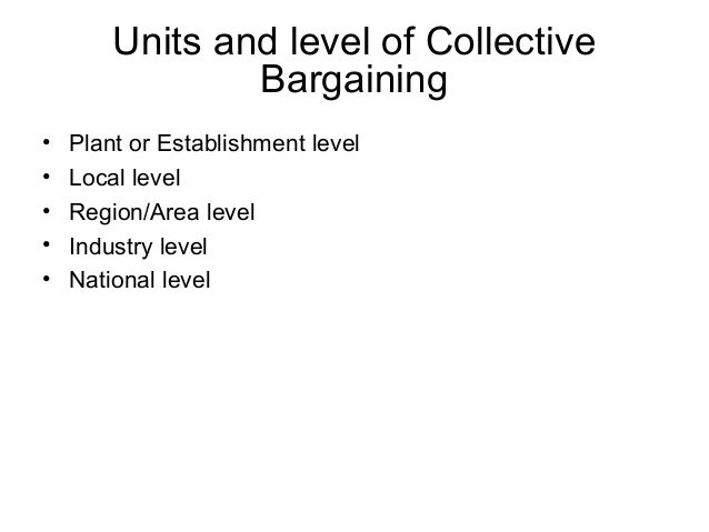 collective bargaining structure in the us In the united states, collective bargaining takes place between labor union leaders and the  a labor union is an organization that represents the collective.