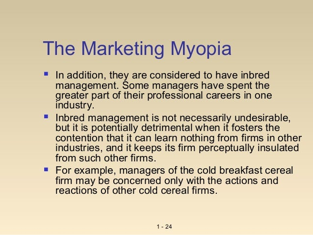 marketing myopia examples Marketing myopia, published by theodore levitt in hbr 1960 is among one of the most interesting articles yesterday, while going through archive folders, in my computer, i found some notes on.
