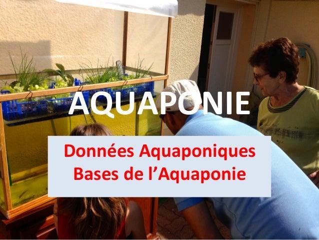 AQUAPONIE   Données  Aquaponiques   Bases  de  l'Aquaponie