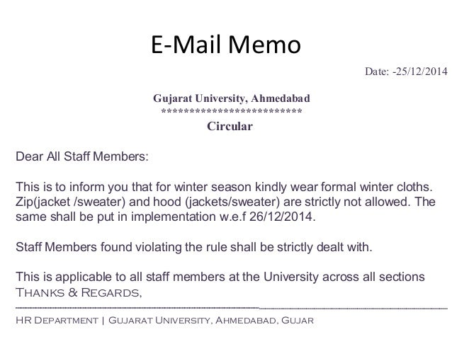 Mba Sem Unit  Memo Writing