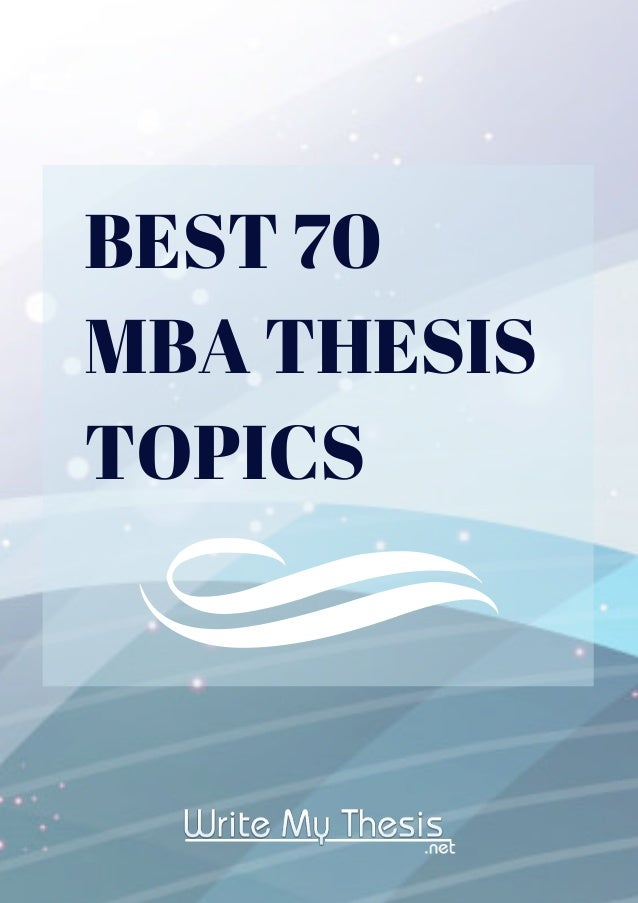 Module 12 - MBA Thesis
