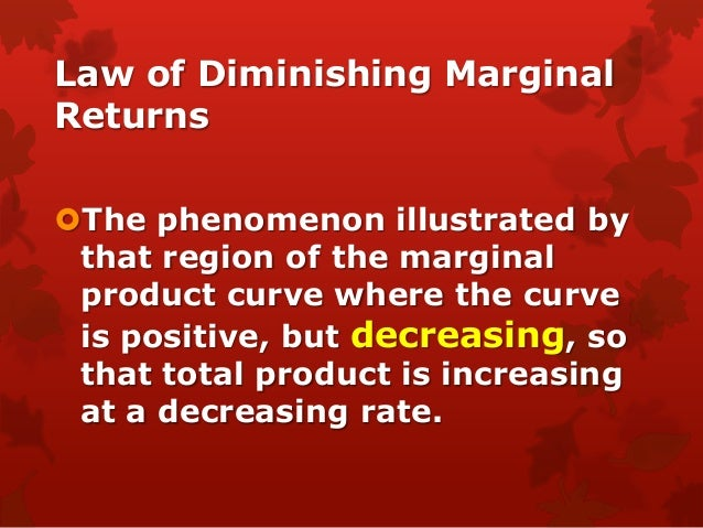 law of diminishing returns a short run phenomenon This study note provides a short introduction to fixed and variable costs for businesses in the short run.