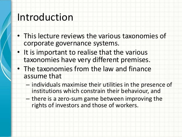 Legality and Ethicality of Corporate Governance Essay Sample
