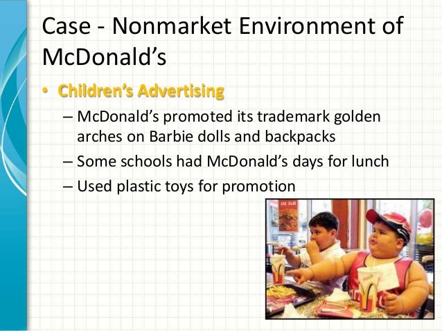 the nonmarket environment of mcdonald's 02david baron - market and nonmarket environments - download as pdf file (pdf), text file (txt) or read online  the environment mcdonald's established an.