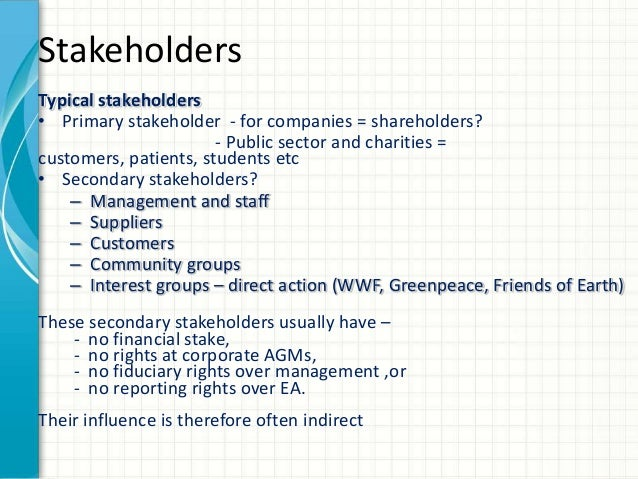 Comparison of stakeholders interest and influence. Apple vs. Mercedes Benz
