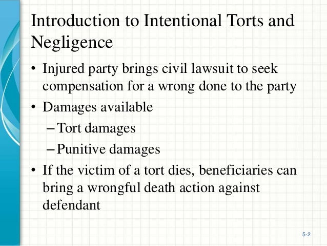 intentional tort essay Torts § 1 – mid-term exam model answer (fall 2006)  the exam was  designed to test your ability to recognize the intentional tort causes of.