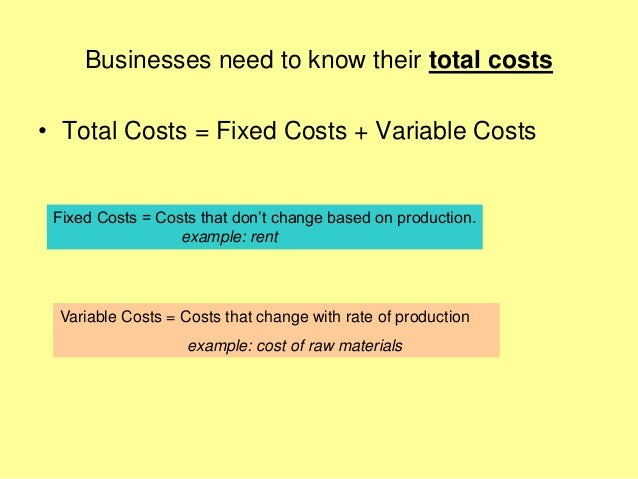 Mba 1 me u 2.1 business costs and revenues Slide 2