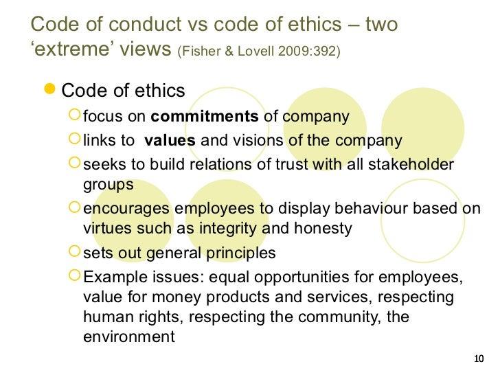 mcdonalds code of ethics