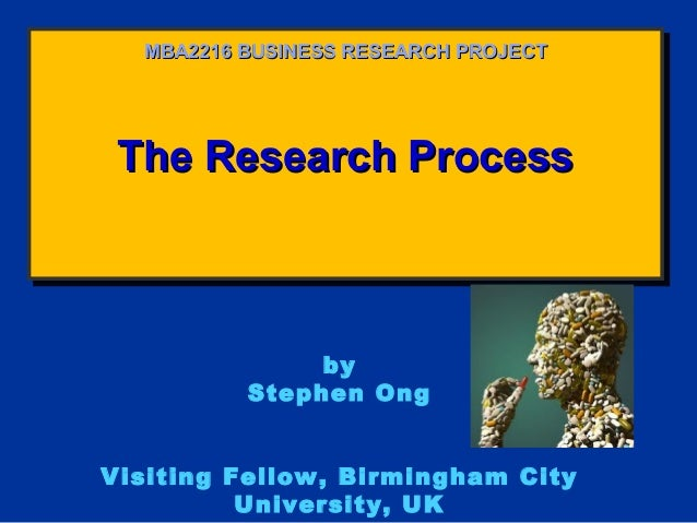The Research ProcessThe Research ProcessThe Research ProcessThe Research ProcessMBA2216 BUSINESS RESEARCH PROJECTMBA2216 B...
