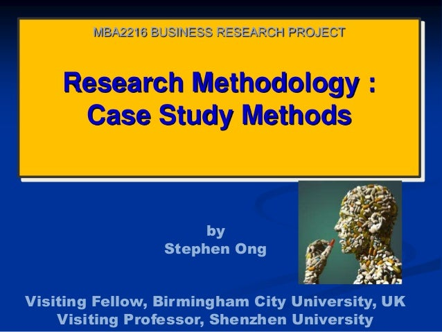 Case Study On Research Methodology With Solution