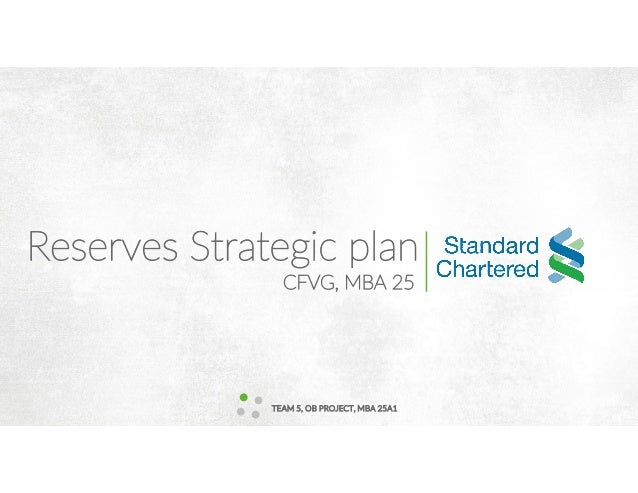 Reserves Strategic plan TEAM 5, OB PROJECT, MBA 25A1 CFVG, MBA 25