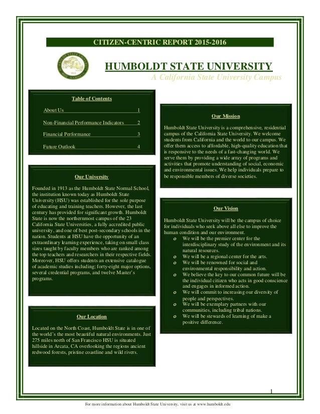 Citizen Centric Report Humboldt State University Hsu