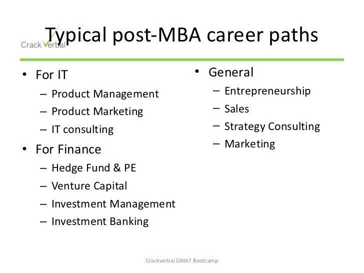 6 typical post mba career paths - Mba Career Opportunities Career In Mba Career Path