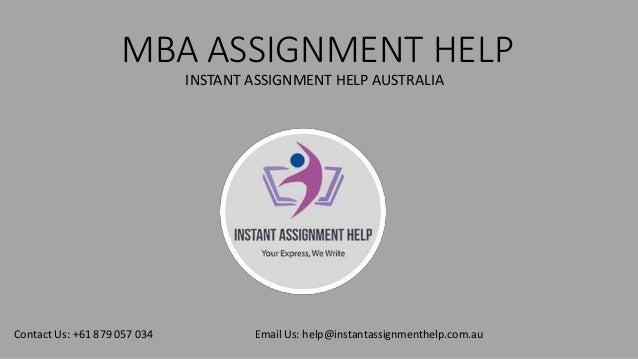 mba assignment help australia