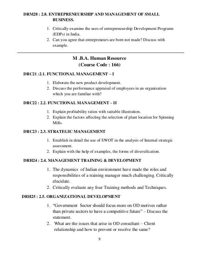 management assignment topics