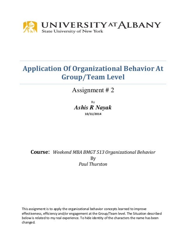 organization behaviour assignment The discipline of organizational behavior has fundamental concepts revolving round the nature of people and the nature of the organization the concepts dealing with the nature of individual are four.