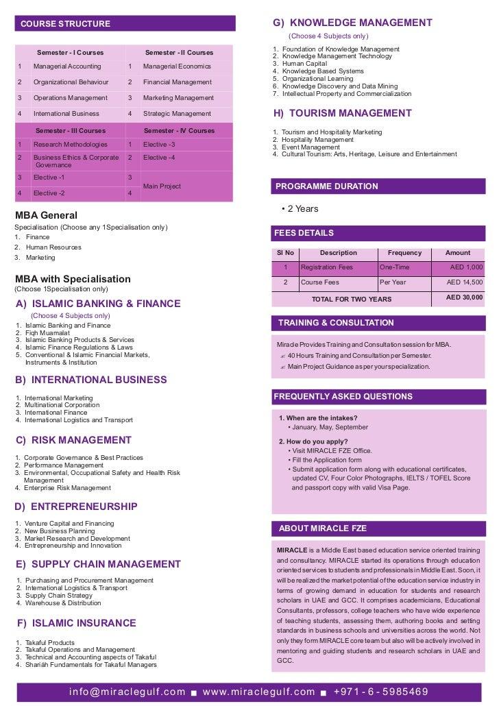 MBA Brochure AeU