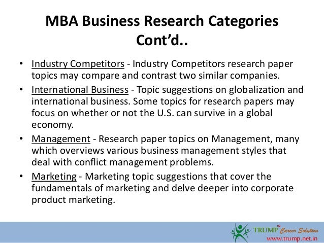 Research paper business