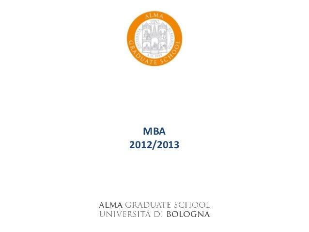 MBA2012/2013