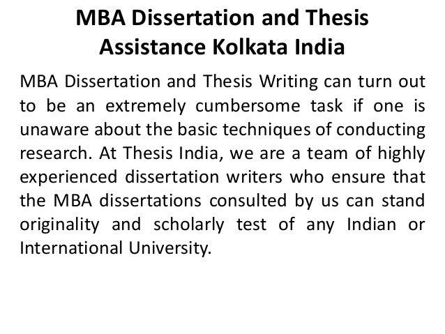 Writing a dissertation kolkata