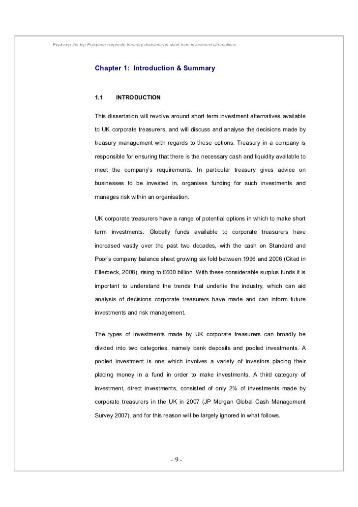alternative investments bachelor thesis Bachelor thesis - autostore page 2/102 executive summary the authors of this thesis have worked together with hatteland and their partner swisslog in order to help them to do a research on the brand autostore.