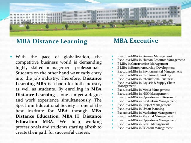 Mba distance Education Slide 3
