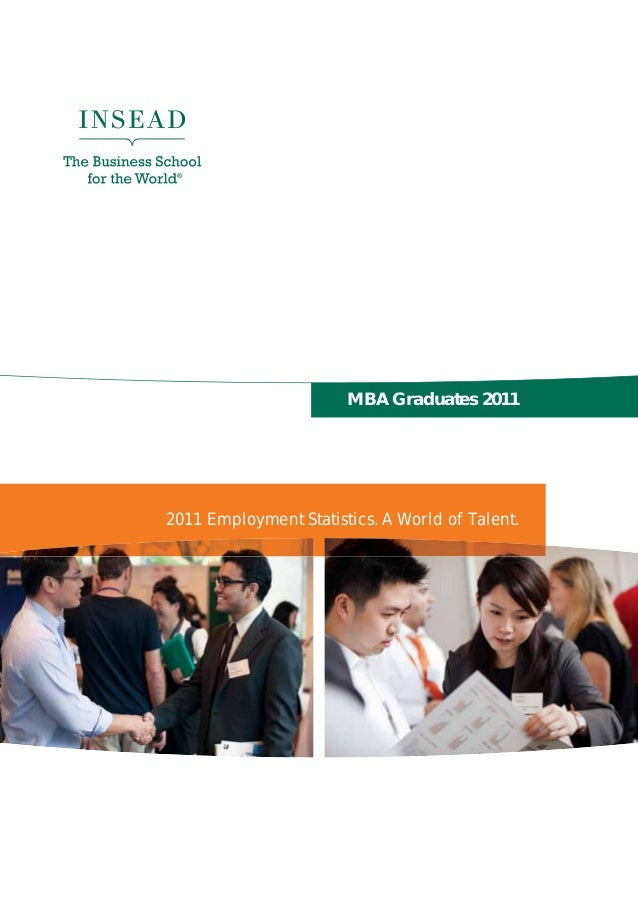 MBA Graduates 20112011 Employment Statistics. A World of Talent.