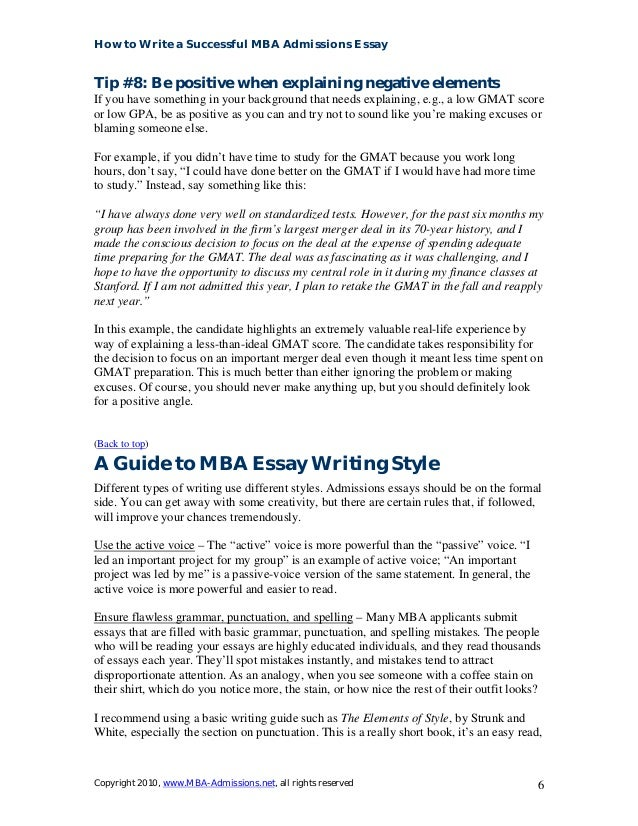 Mba essay writingguide
