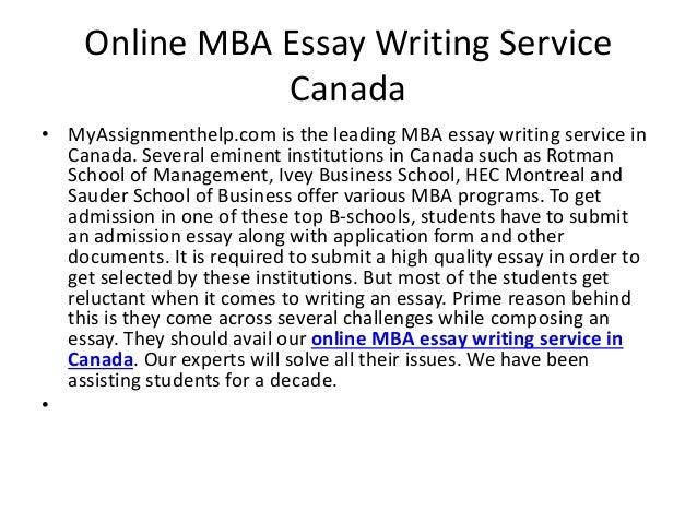mba essay writer