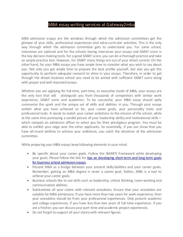 Mba essay writing service newsletter