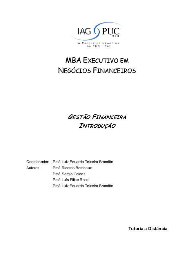 MBA EXECUTIVO EM                 NEGÓCIOS FINANCEIROS                       GESTÃO FINANCEIRA                          INT...