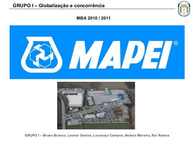 GRUPO I – Globalização e concorrência MBA 2010 / 2011  GRUPO I – Bruno Branco, Leonor Santos, Lourenço Campos, Nelson More...