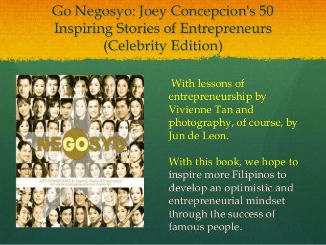 Go negosyo celebrity entrepreneurs