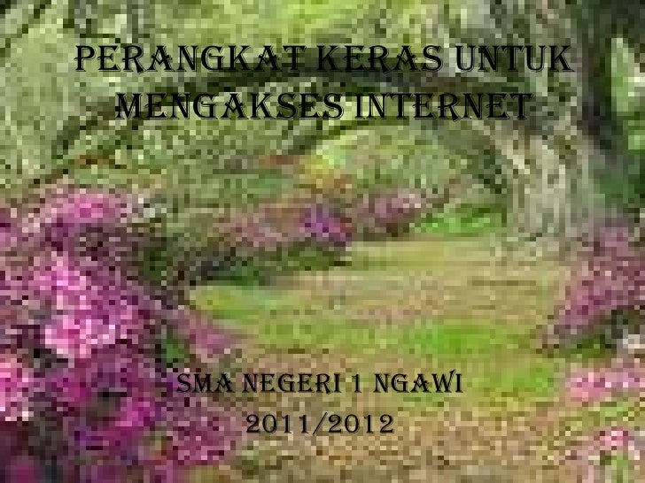 PERANGKAT KERAS UNTUK MENGAKSES INTERNET<br />SMA NEGERI 1 NGAWI<br />2011/2012<br />